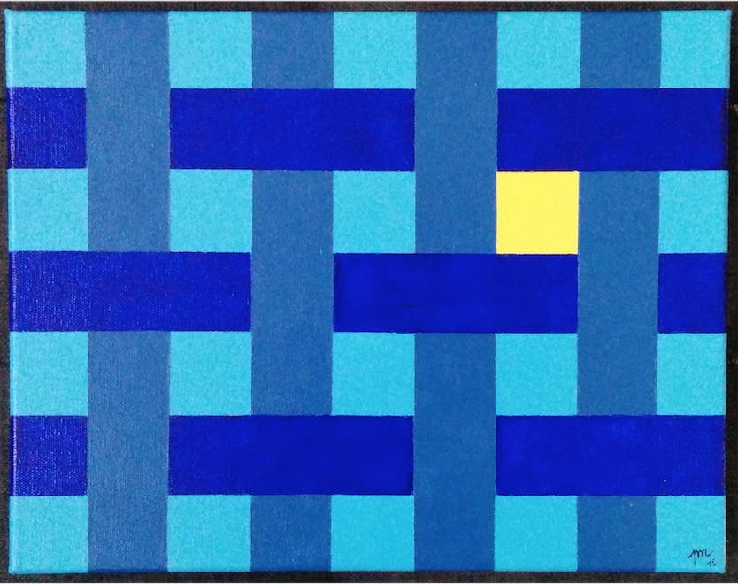 Tressage bleu