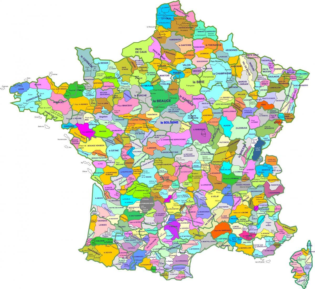 Les nombreux pays de France.